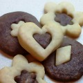 White and Chocolate Shortbread Cookies