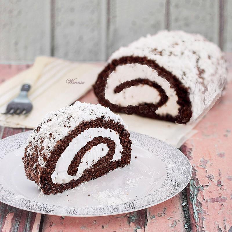 Flourless Chocolate Swiss-Roll - Gluten free