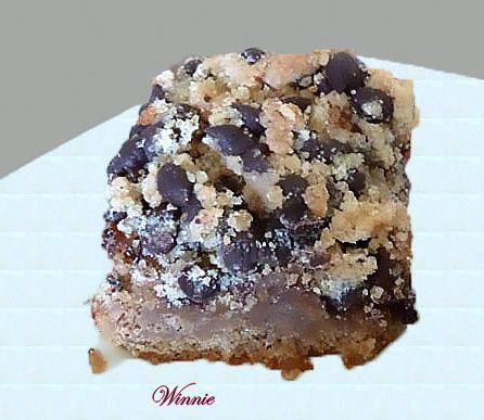 עוגת פירורים עם חמאת בוטנים ושוקולד ציפס-ז