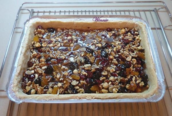 טארט-חיתוכיות אגוזים ופירות יבשים-ט