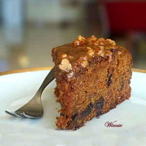 Pumpkin Chocolate-chip Cake with Honey Glaze
