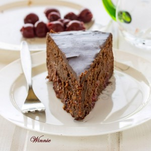 Flourless Cherry-Chocolate Fudge Cake