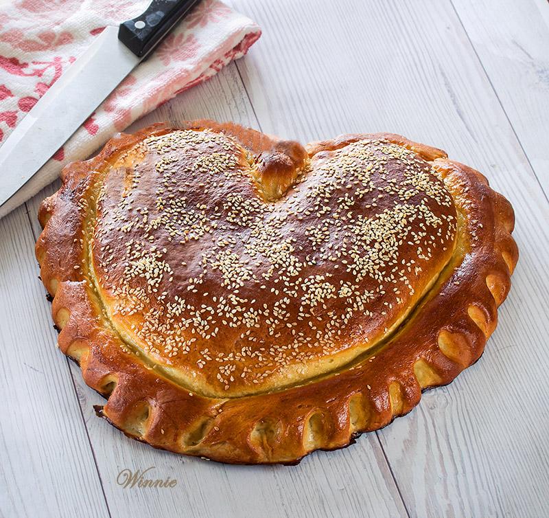 Heat-shaped Challah with Semolina flour - Tangzhong method