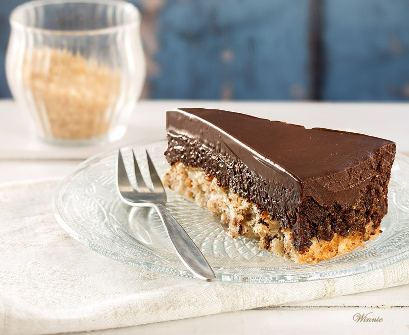 Chocolate Hazelnut Mousse Cake on Crust - Gluten Free