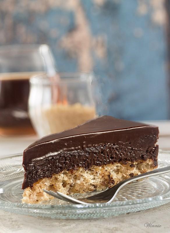 Chocolate Mousse Cake on Hazelnut Crust from Something Sweet Winnie's Blog