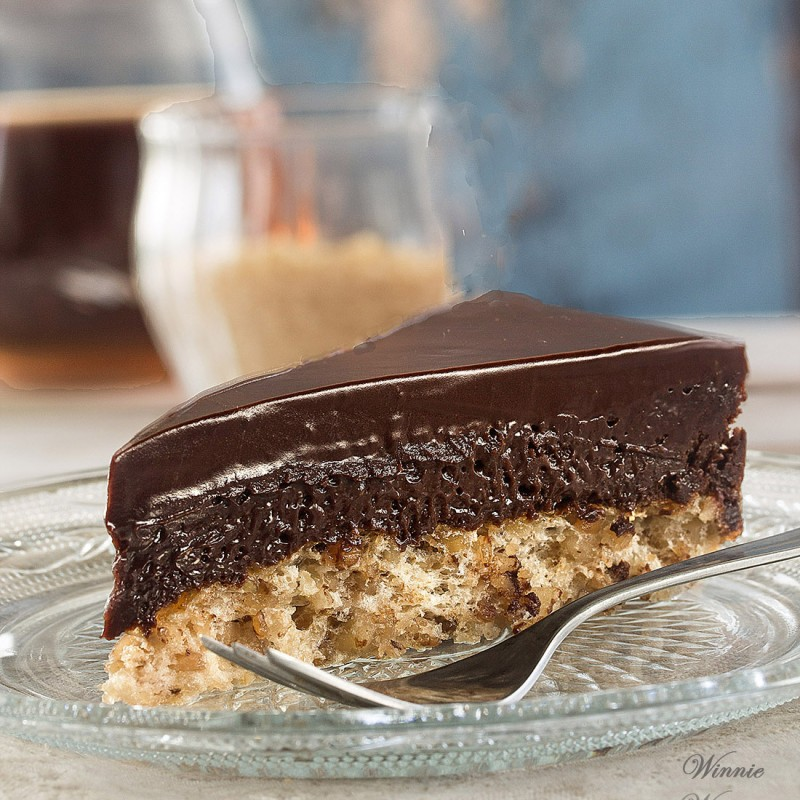 Chocolate Mousse Cake on Hazelnut Crust