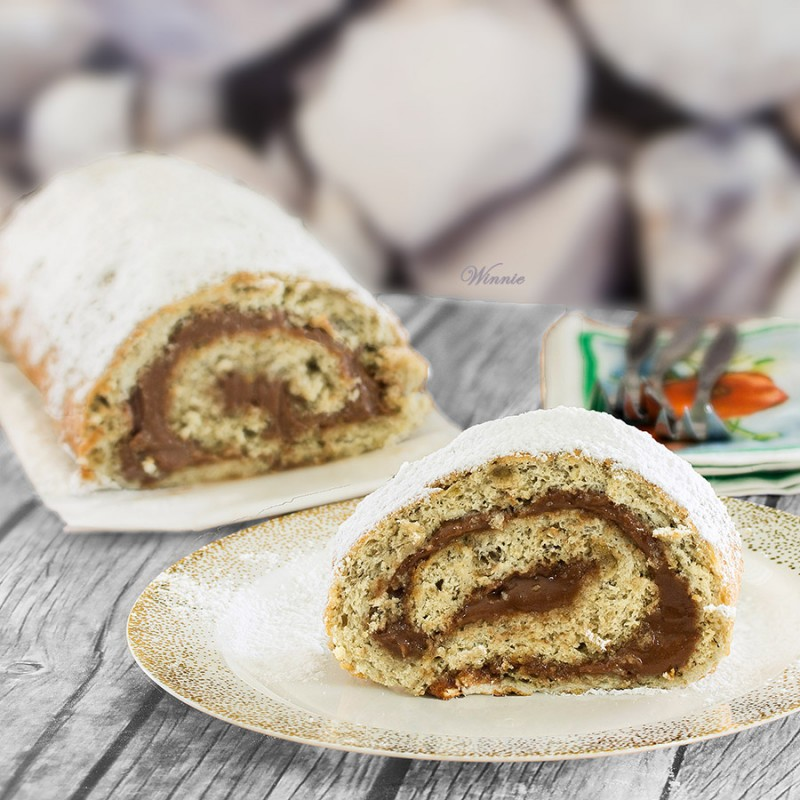 Banana Swiss-Roll with Chocolate Cheese Filling