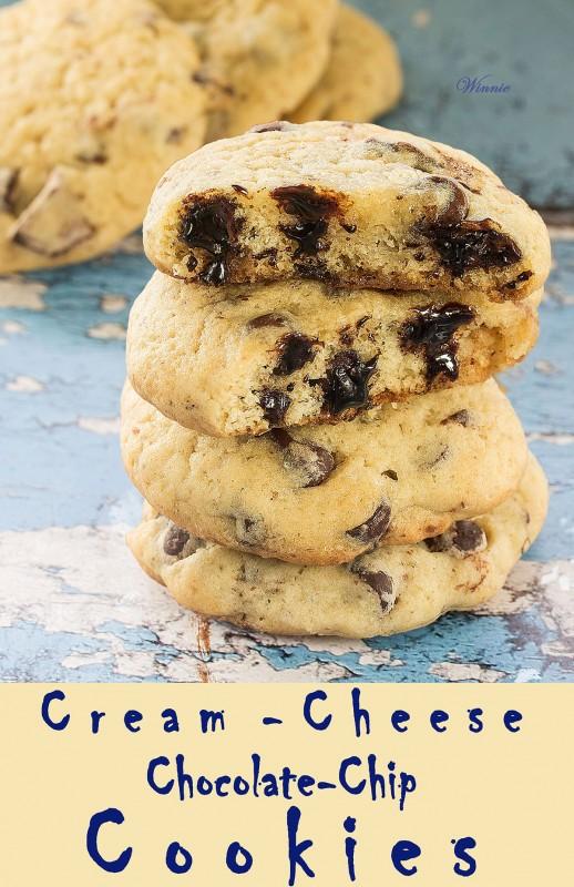 Cream-Cheese Chocolate-Chip Cookies