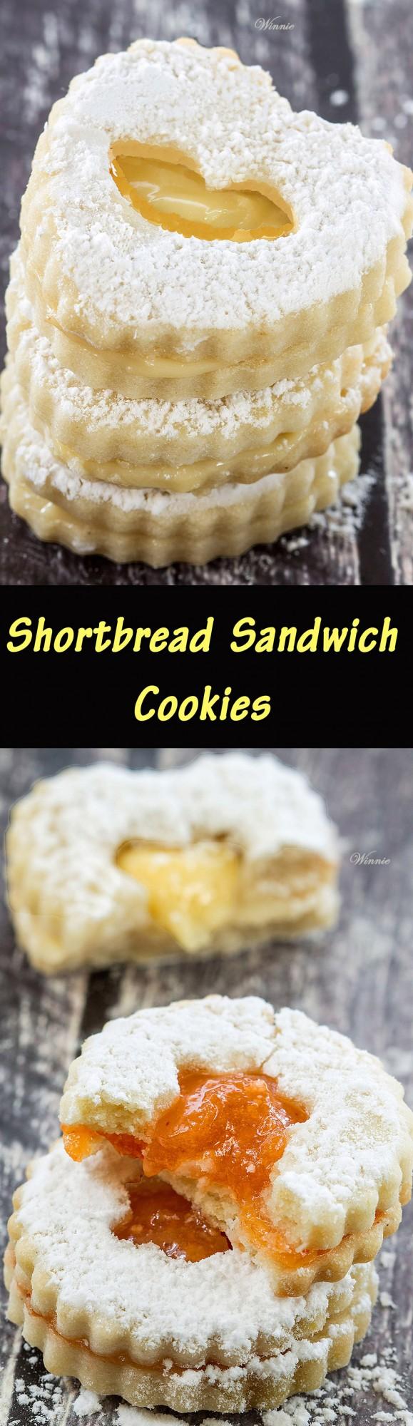עוגיות סנדוויץ ריבה - Shortbread Sandwich Cookies ...