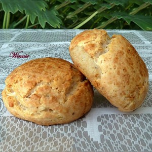 Gluten-free Rolls, made with potato-flour, cheese and nuts