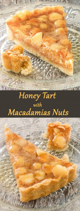 Honey Tart with Macadamias Nuts