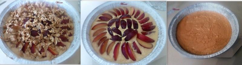 עוגת שזיפים עם סילאן ושיבולת שועל-הכנה