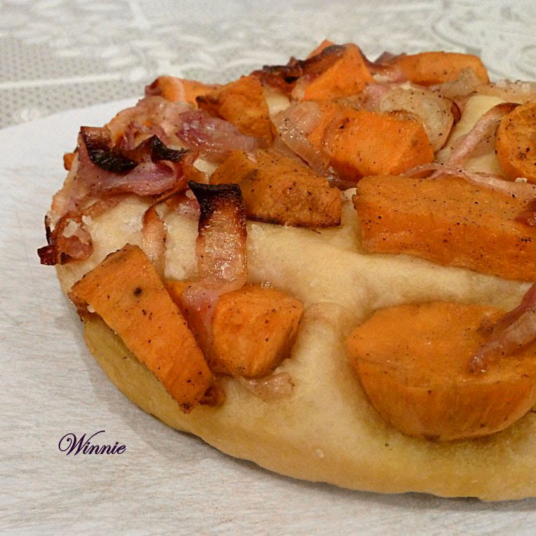 Sweet Potato and Red-Onion Focaccia