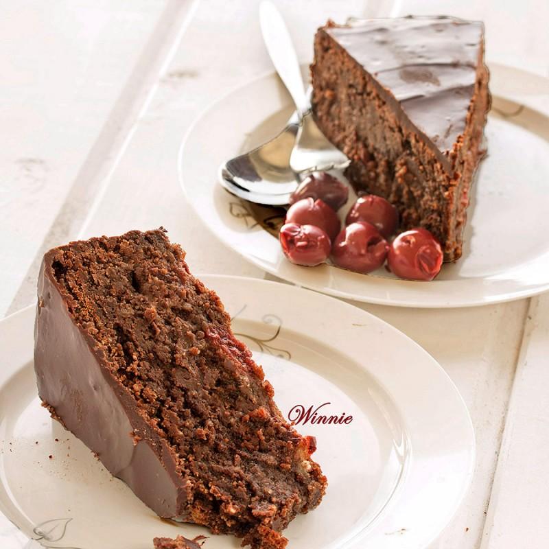 Flourless Cherry-Chocolate Fudge Cake