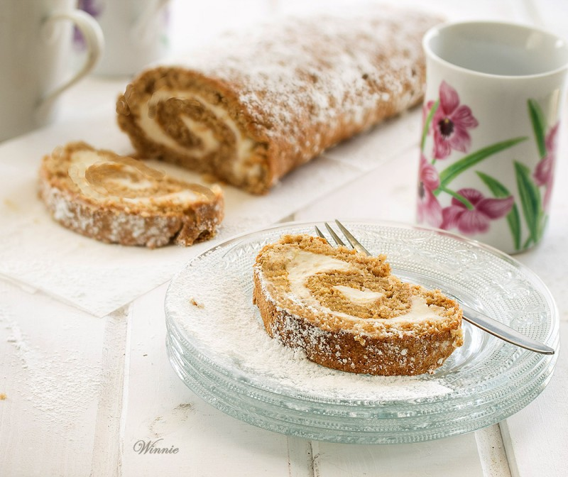 Honey & Date-Syrup Swiss-Roll