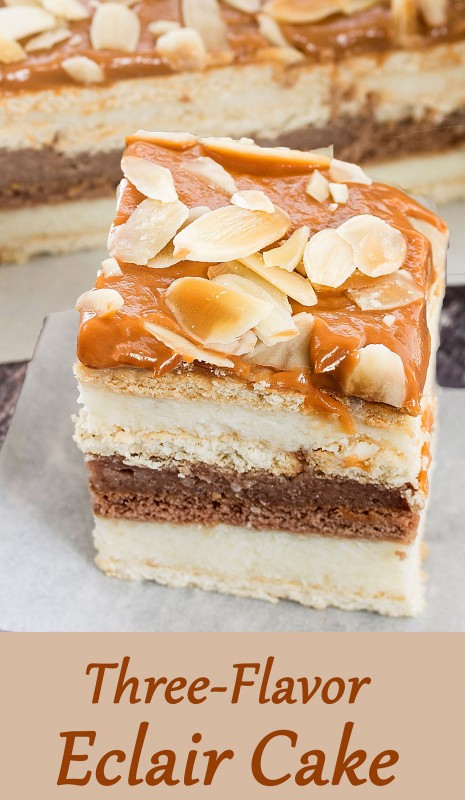 Three-Flavor Eclair Cake