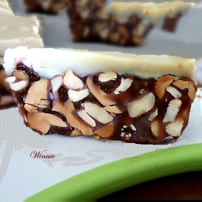 No-bake Halva-Caramel Nut Bars