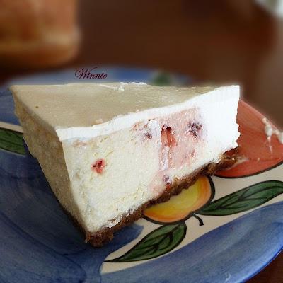Cherry-dotted CheeseCake