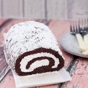 רולדה שוקולד עם קצפת - ללא קמח