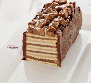 עוגת סניקרס - ללא אפייה