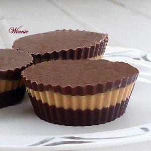 ממתק שוקולד וחמאת בוטנים ללא אפייה